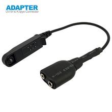 Радио Baofeng УФ-9Р плюс рации кабель-адаптер к 2-Штекерн. подходит для УФ-5R в BF-888s рации гарнитуры микрофон аксессуары