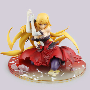 Image 2 - 14cm Anime Action Figure Monogatari Nisemonogatari Oshino Shinobu Weapon 1/8 Scale PVC Sexy Collectiable Model Gift Doll