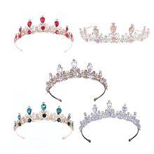 Vintage Tiara for women vintage baroque style queen crown for bride princess wedding birthday party
