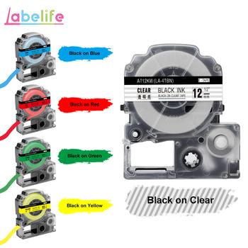 Labelife 1 sztuk SS12KW LC-4WBN kompatybilny Epson LabelWorks LK taśmy standardowe 12mm dla Epson drukarka etykiet LW-300 LW-400 SR530C tanie i dobre opinie Wstążka Wstążki drukarki Label Printer 12mm*8m Epson Ribbon Labels 1 year Multi-Color LW-400 LW-500 SR3900C SR530C SR530