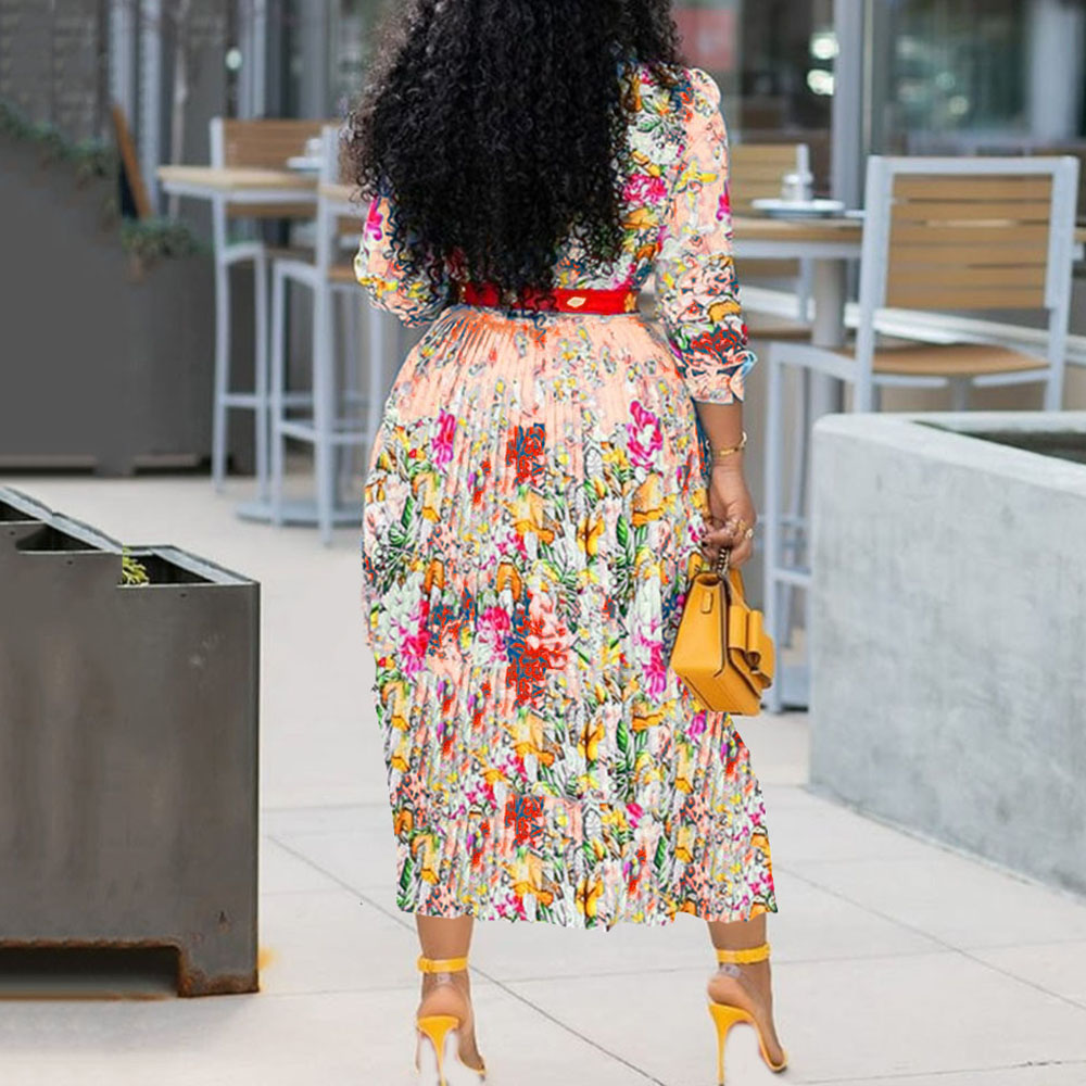 Elegant Office Lady Workwear Plus Size Midi Dress