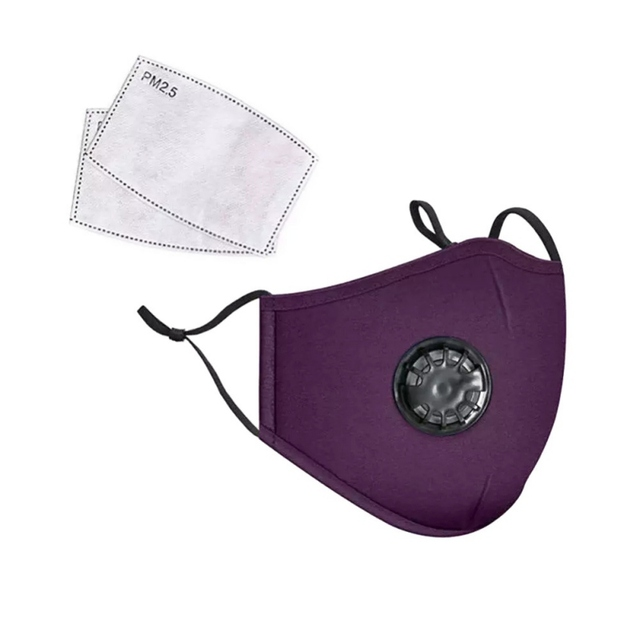 Reusable Washable Breathable Face Mask Cycling Running Facemask Anti Dust Windproof Air Purifying Face Mask with Filter 2