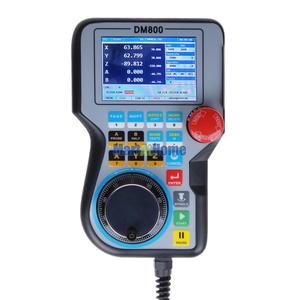 "Image 3 - High end DM800 Ethernet 3/4/5 Axis CNC Control System Offline Controller Support G code U disk Read 3.8"" TFT MPG & Estop Button"