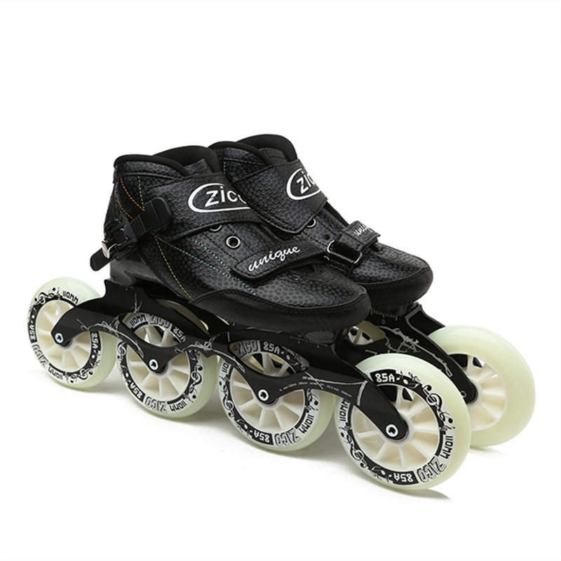 Indoor Track Speed Racing Long Street Trace Asphalt Road Inline Speed Skates Shoes Carbon Fiber Adults Kids Sport Roller Patines