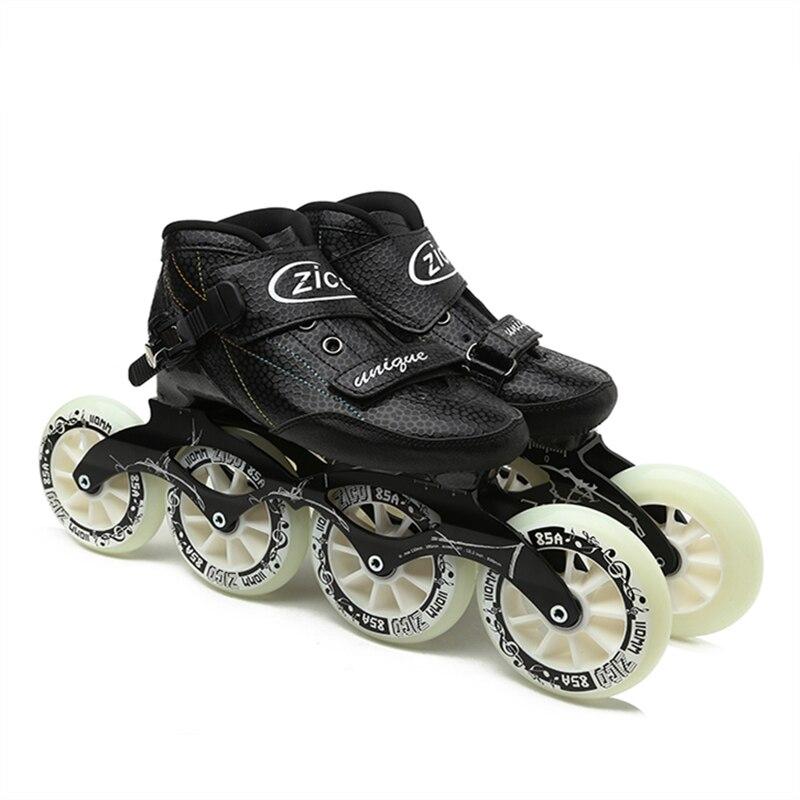 Indoor Track Speed Racing Long Street Trace Asphalt Road Inline Speed Skates Shoes Carbon Fiber Adults Kids Sport Roller Patines