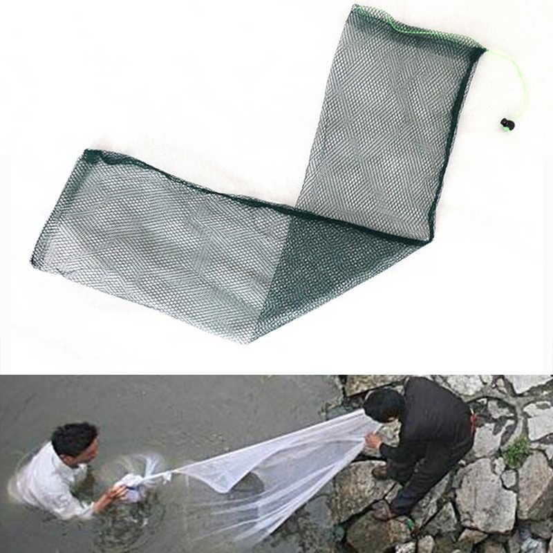 Fischernetz Falle Folding Nylon Mesh Guss Zubehör Einfache Fisch Tasche Tackle Faltbare Angeln Werkzeuge 1Pc Farbe Zufällig