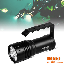 LED Flashlight Torch D860V Waterproof 4000 Lumens 3 XHP50 Diving Underwater 150m for Professional Camping