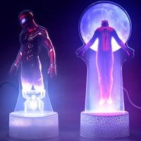 24 Cm De Avengers Creative Spider Man Kleurrijke Ice Gebarsten Led Licht Base Speelgoed 7 Kleuren Luminous Light Up kerst Speelgoed op