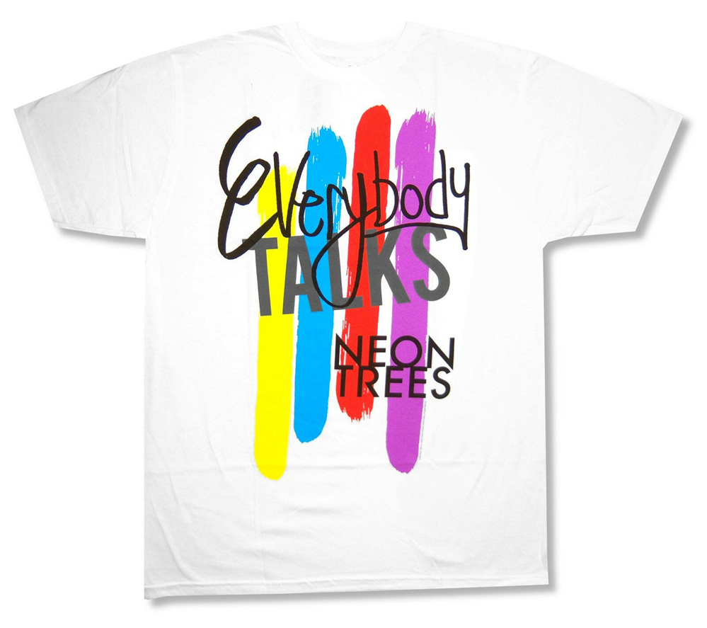 """NEON TREES /""""ANIMAL COVER/"""" BLACK T-SHIRT NEW OFFICIAL ADULT BAND"""