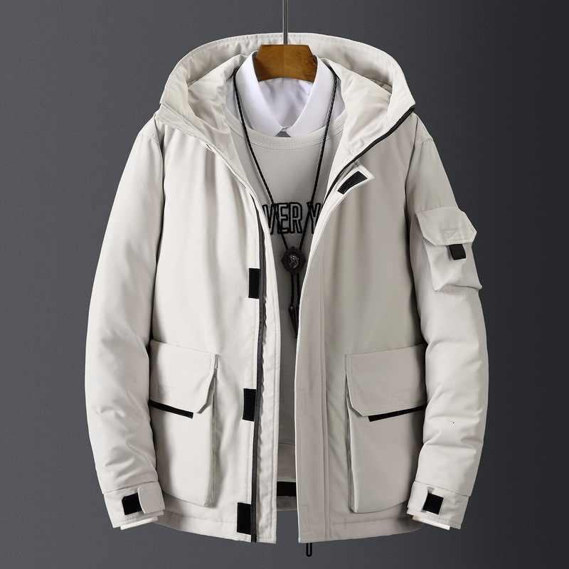 Высококачественная Мужская зимняя куртка Толстая зимняя парка пальто белая пуховая куртка мужская брендовая пуховая куртка