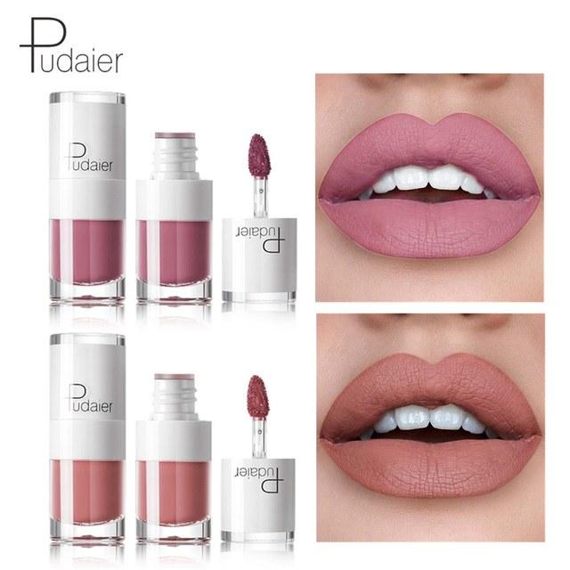 Pudaier 16Color Nude Matte Lipstick Waterproof Liquid Lipstick Long Lasting Moisturizer Women Red Lip Stick Tint Makeup Cosmetic 2