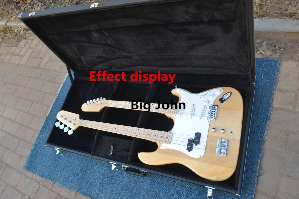 Nouveau Hardcase de guitare électrique, pour guitare électrique à Double cou en bois - 3