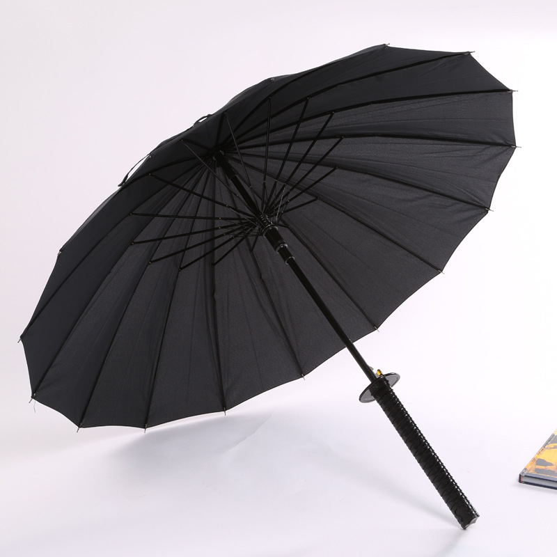 Hot Sales Creative Fashion Straight Pole 16K Knife Umbrella Sun-resistant College Style Automatic Adult Umbrella All-Weather Umb