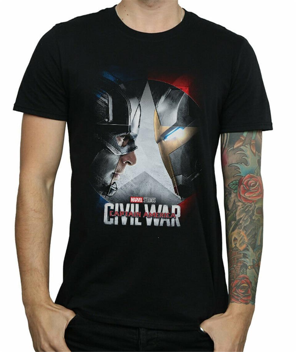 Marvel Studios Men's Captain America Civil War Poster T-Shirt Classic Unique Tops Tee Shirt