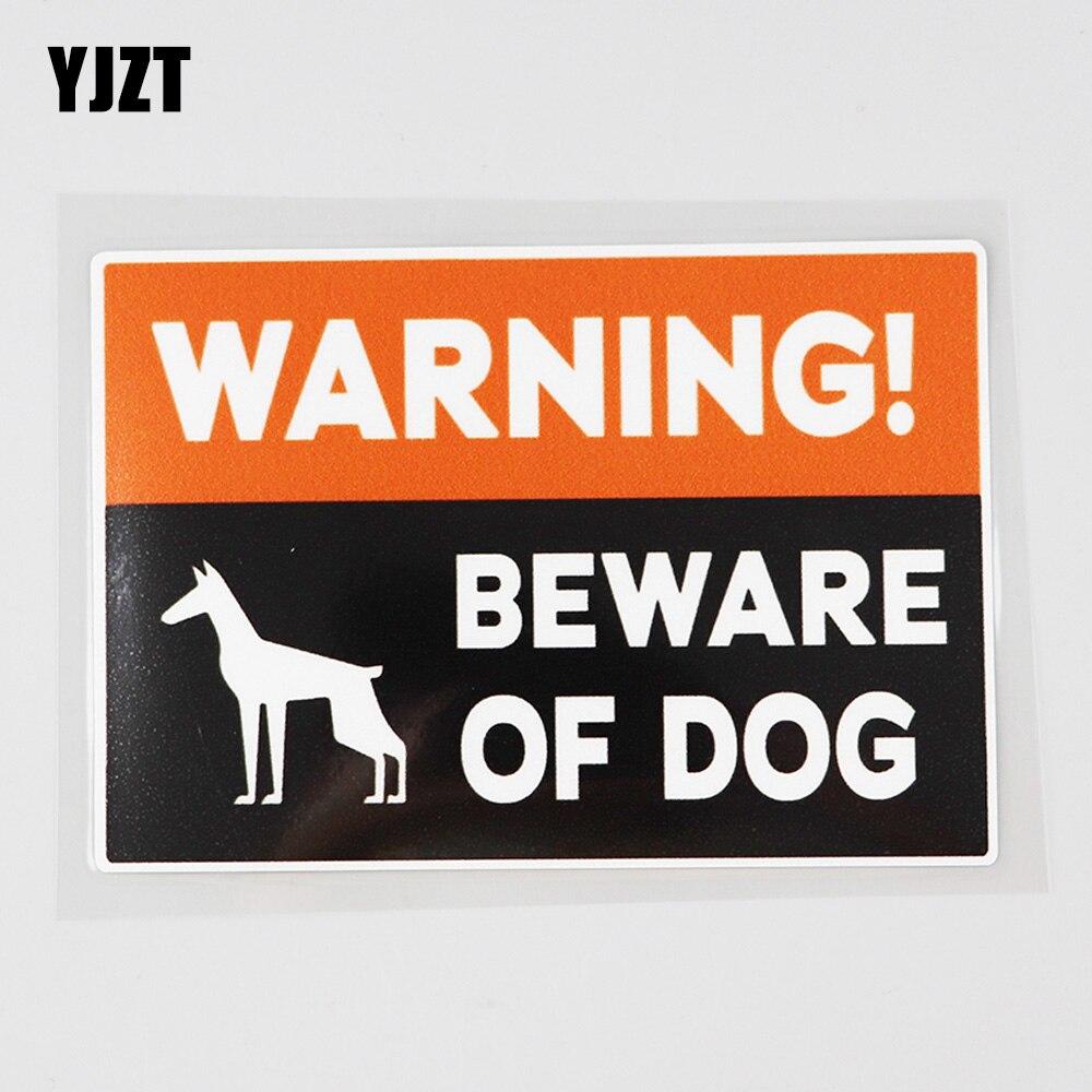 YJZT 14,3 см × 9,5 см наклейка Предупреждение Остерегайтесь собаки ПВХ автомобиля Sticker12C-0696