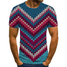 Новинка 2020 3d футболка летняя модная Мужская мужская одежда