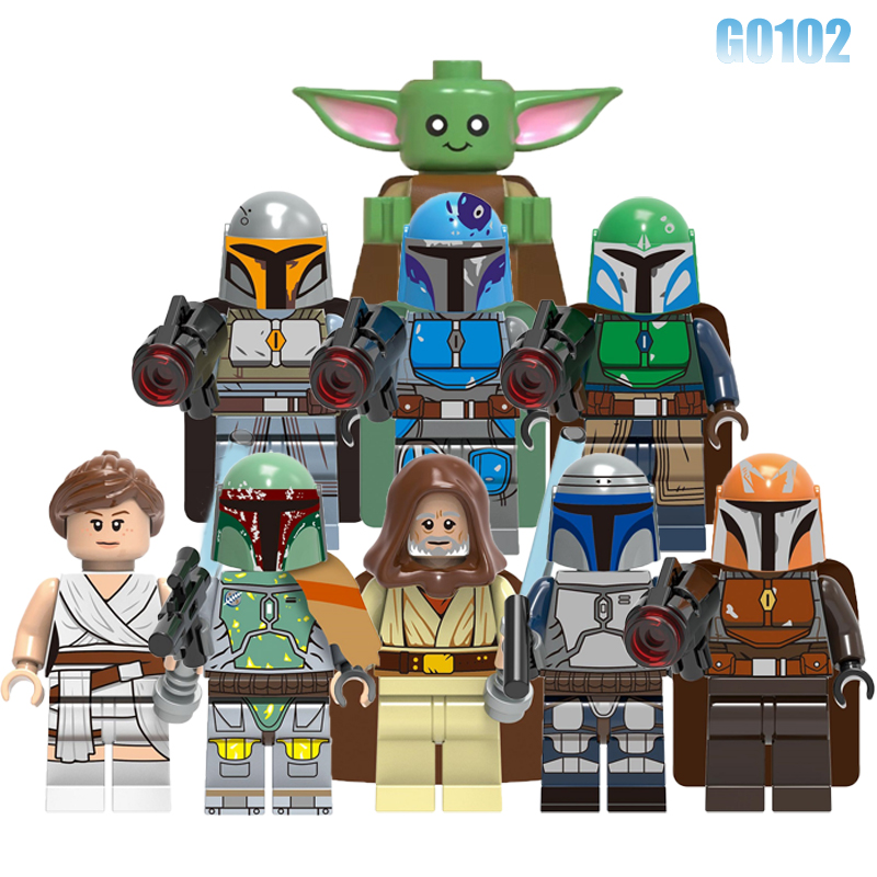 Baby Yoda Building Blocks Movie Starws Rey Skywalker Mandalorian Warrior Jango Fett Mechanic Brick Figures Children Toys G0102