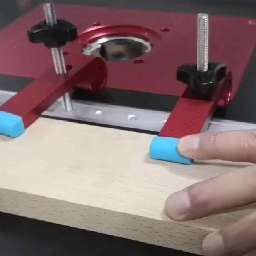 In Lega di alluminio Morsetto di Legno T-Slot di tipo Scorrevole Pista Fermacorda e ganci Lavorazione Del Legno M8 Vite di Posizionamento Limitatore di Mitra Clip Morsetto Fisso strumenti