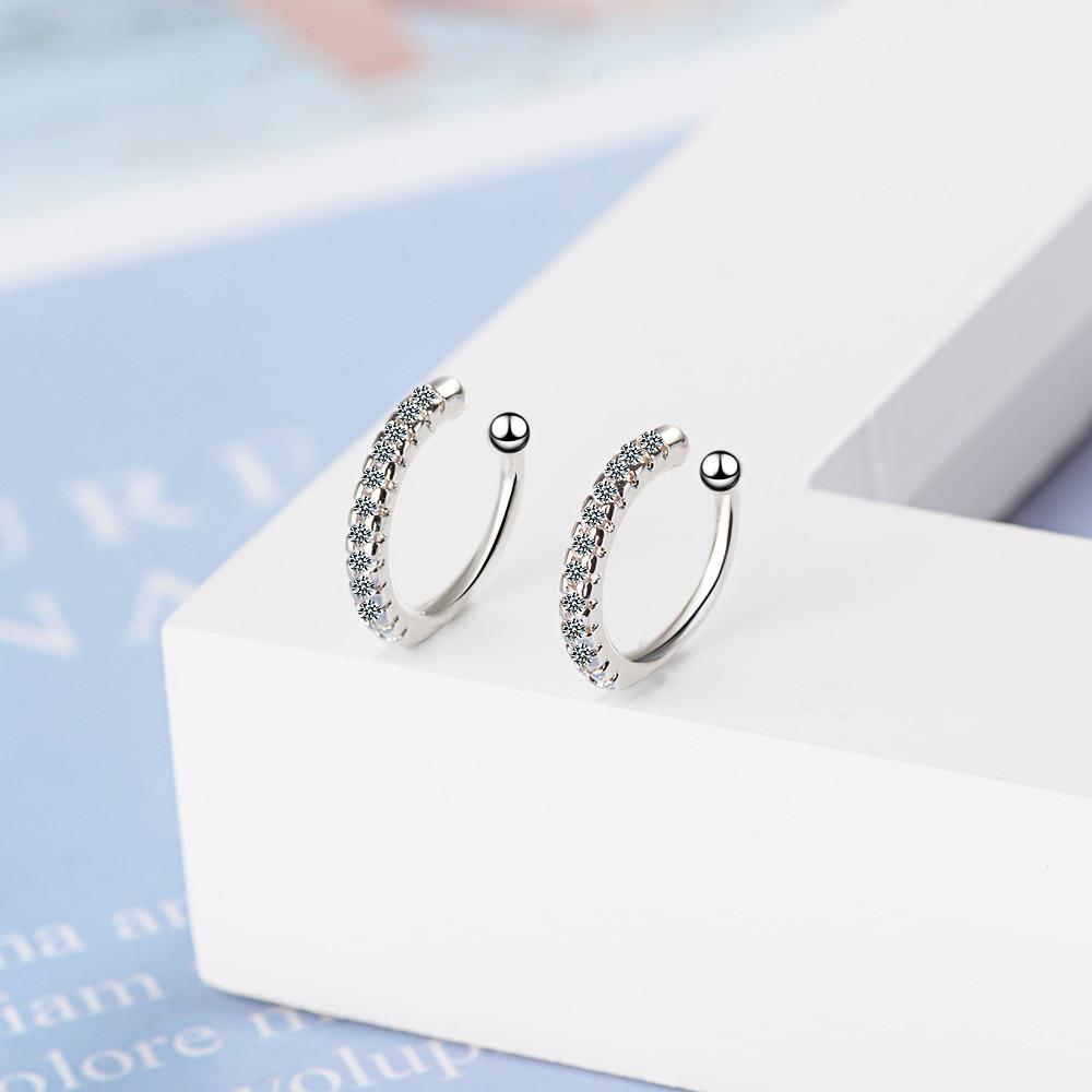 2 PCS/Bag Earcuff Clip on Earrings for Girl CZ Ear Cuff Non Pierced Earring No Without Hole Women Cartilage Earrings