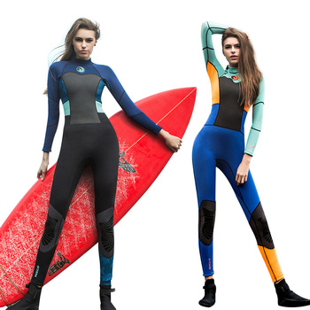 Hisea 1.5MM Neoprene Women Wetsuit One-Piece Ladies Scuba Diving Suit  Long Sleeve UV Prevent Surfing Swimming Diving Equipment