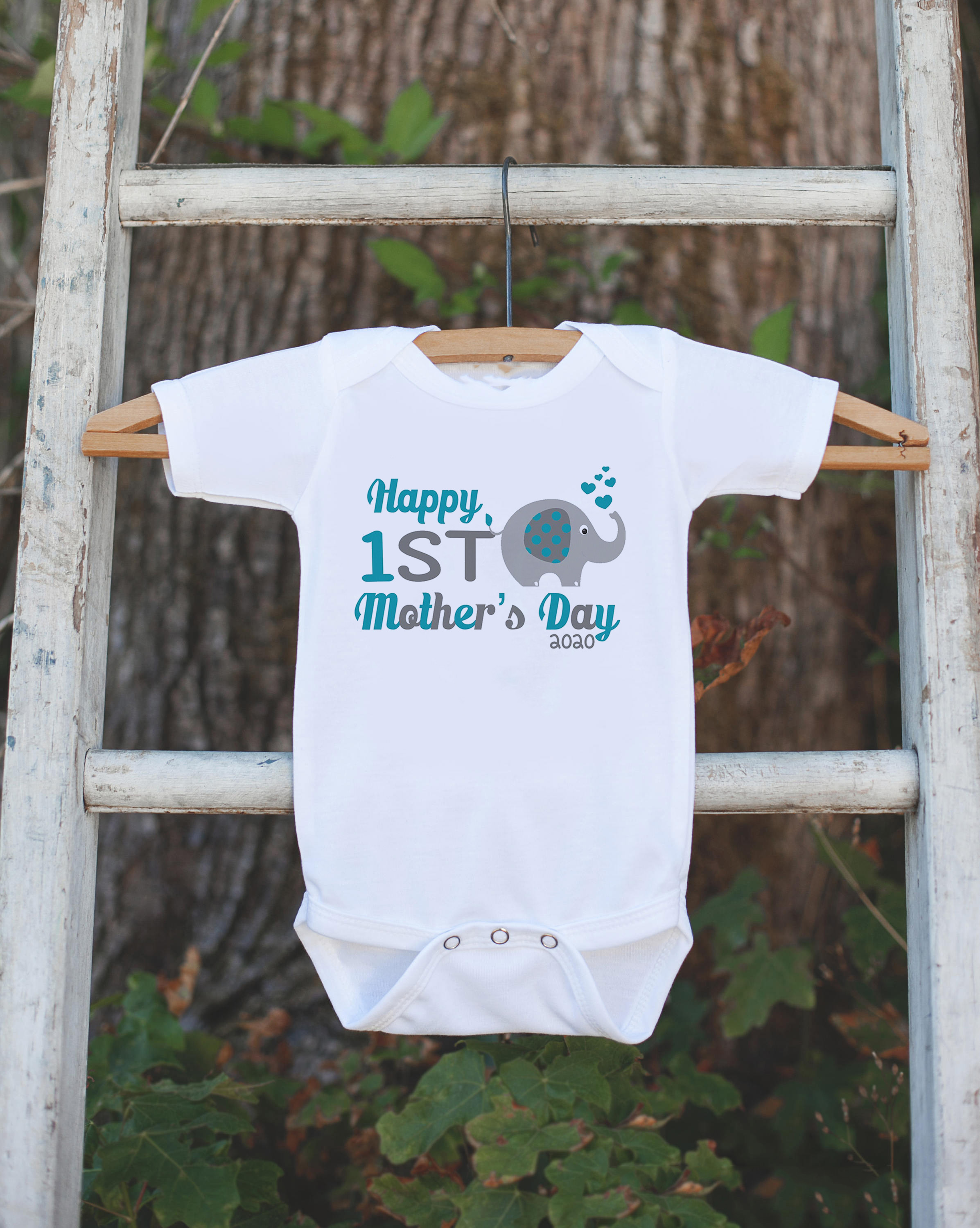 Happy First Mother's Day Father's Day Baby Bodysuit Graphic Baby OnePiece Baby Fathers Day Birthday Gift