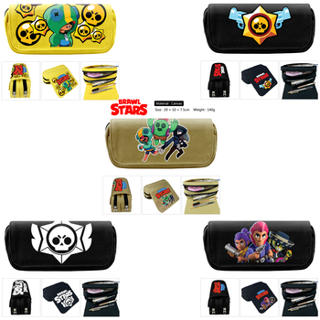 Anime Brawling Leon Crow Spike Shelly Colt Jessie Brock Pen Pencil Bag Case Cosmetic Bag Action Figure Toy Gift For Children Kid