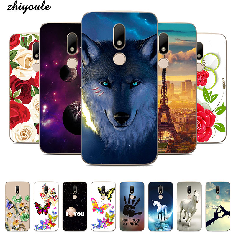 Soft Silicon <font><b>Case</b></font> For <font><b>Motorola</b></font> <font><b>Moto</b></font> M XT1662 <font><b>XT1663</b></font> Rose Cute Animal Coque Printing <font><b>Case</b></font> For <font><b>Moto</b></font> M Back Cover Capas Fundas image