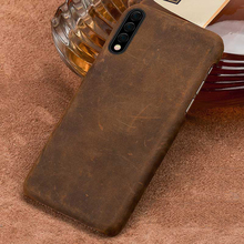 Natural PULL-UP leather phone case For samsung Galaxy a50 a70 a30 a10 a8 a7 2018 Note 10 pro cover s10 s9 s8 Plus 9