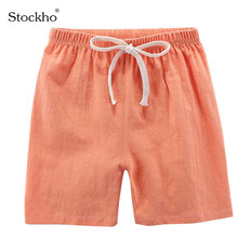 Children's Shorts Boy's Shorts Summer Cotton and Linen Baby Pants Boy's and Girl's Pants Candy Colored Children's Clothing 2-11Y