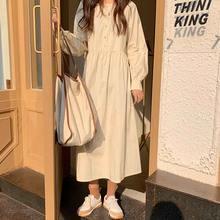 Корейское цельное платье новинка женское весенне осеннее с длинным