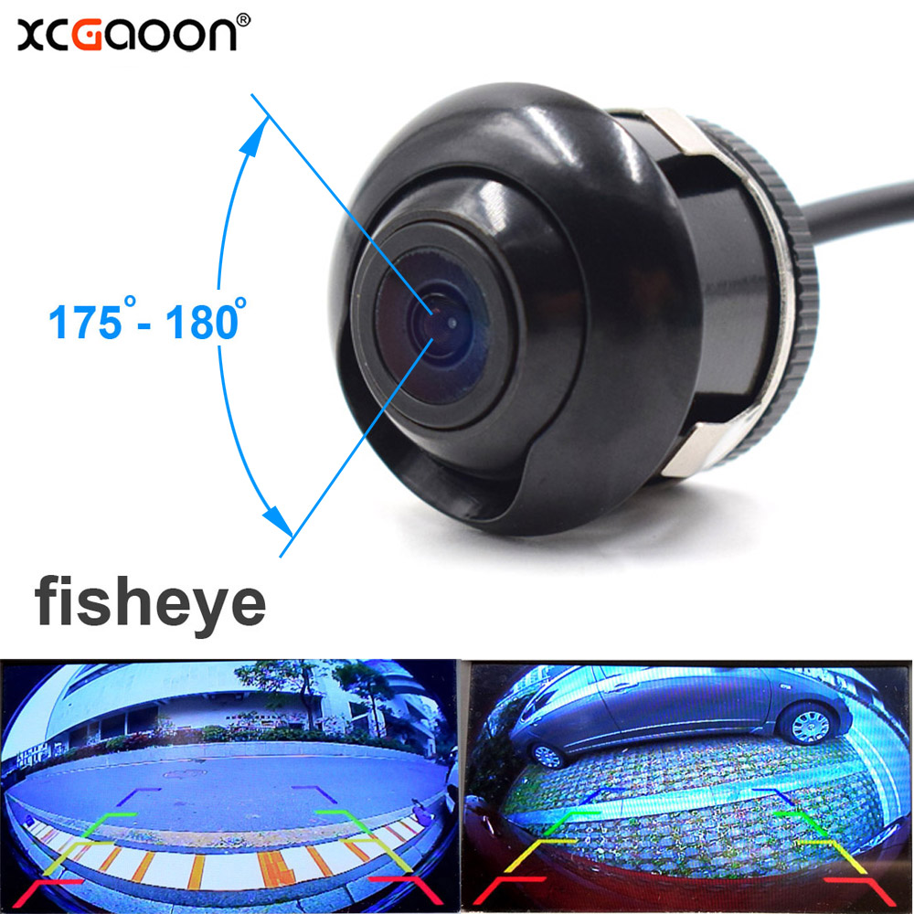 XCGaoon CCD 180 Degree Fisheye Lens Car Rear Side Front View Camera Wide Angle Reversing Backup Camera Night Vision Waterproof