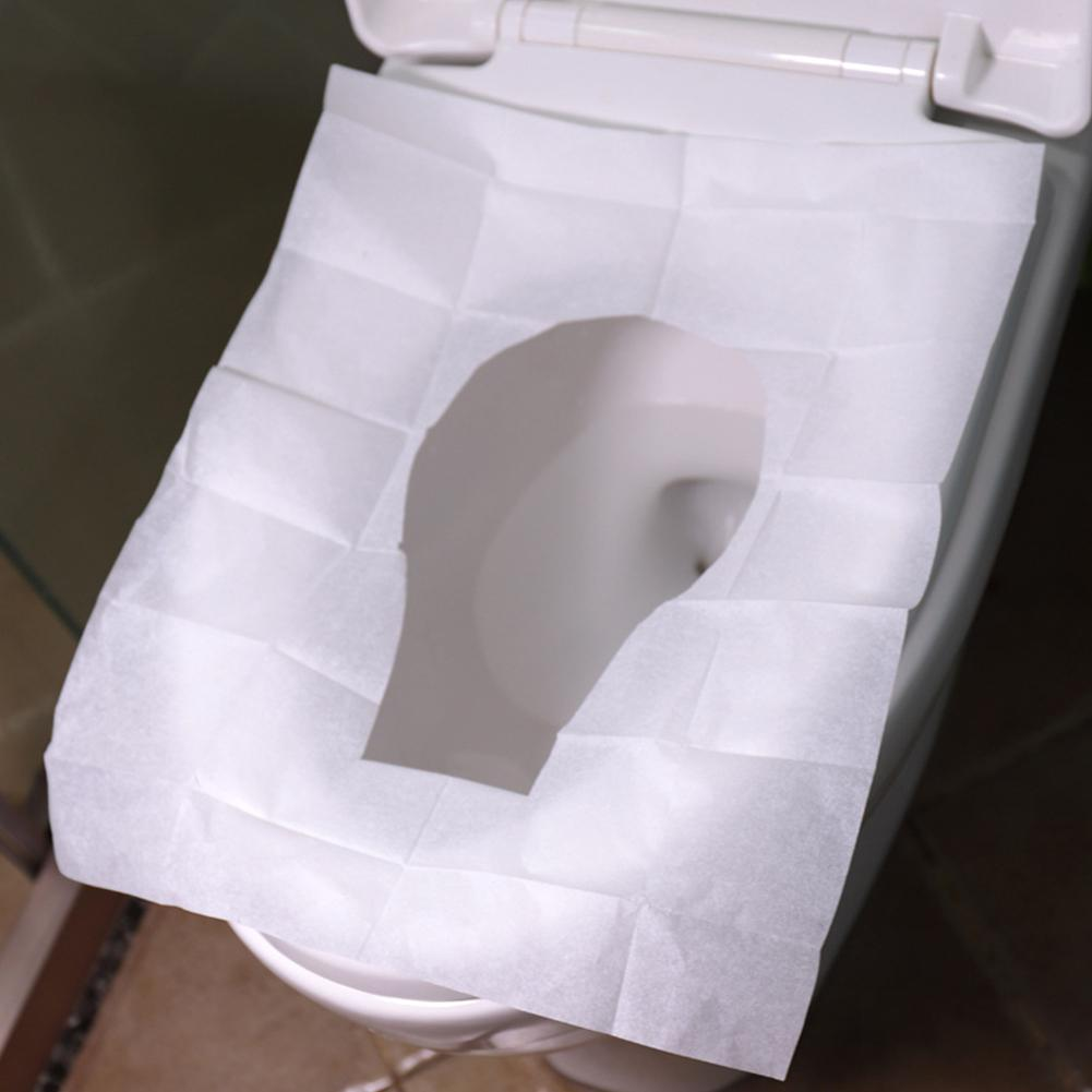 Kidlove 10Pcs Water-soluble Disposable Toilet Seat Paper Maternal Toilet Pad Paper Sitting Toilet Paper
