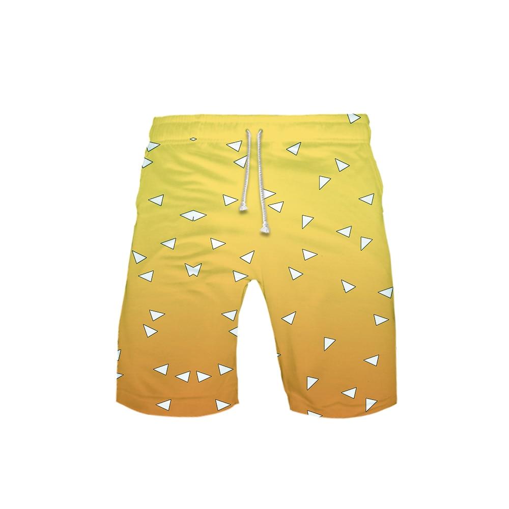 Mens Kime/_tsu No Yaiba Swim Trunks 3D Drawstring Beach Board Shorts Quick Dry Bathing Suitsr Running Board Shorts