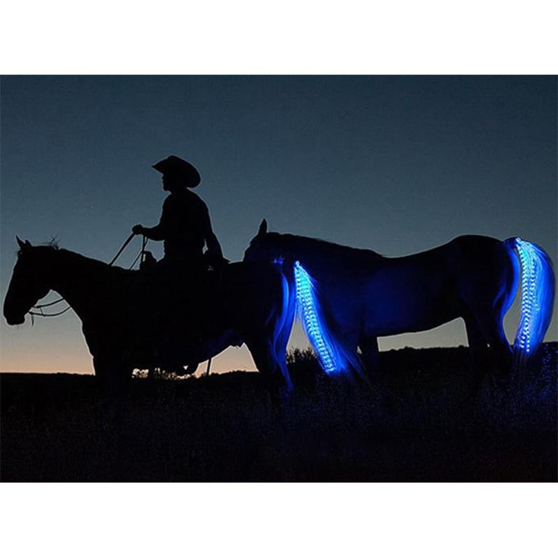 Novo 100 Cm Cavalo Cauda Luzes Usb Carregável Led Crupper Cavalo Arnês Equestre Esportes Ao Ar Livre As Luzes Da Cauda Do Cavalo