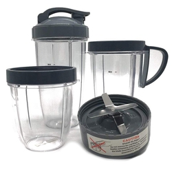 Cup and Blade Set for Nutri Replacement High-Speed Blender Mixer System for Replacement Parts and Accessories with NutriBullet