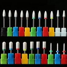 Керамические алмазные фрезы для ногтей, сверла для маникюра, заусенцы для кутикулы, Электрический Фрезер, сверло, аксессуары