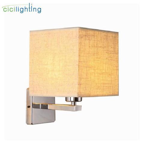 lampada de parede moderna led lampada cabeceira quarto hotel escada arandelas parede iluminacao aco inoxidavel
