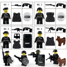 City hero police professional doll weapon military cartoon children building blocks accessories toys