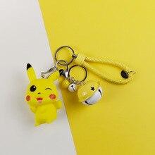 Cartoon Cute Japanese Anime Pikachu Keychain Pocket Monsters Key Ring Girl Pendant Kid Toys Chains Keyring