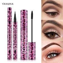 Cosmetics Fiber Lashes Sweatproof Eyeliner Extension Black Thick Lasting Leopard-Print