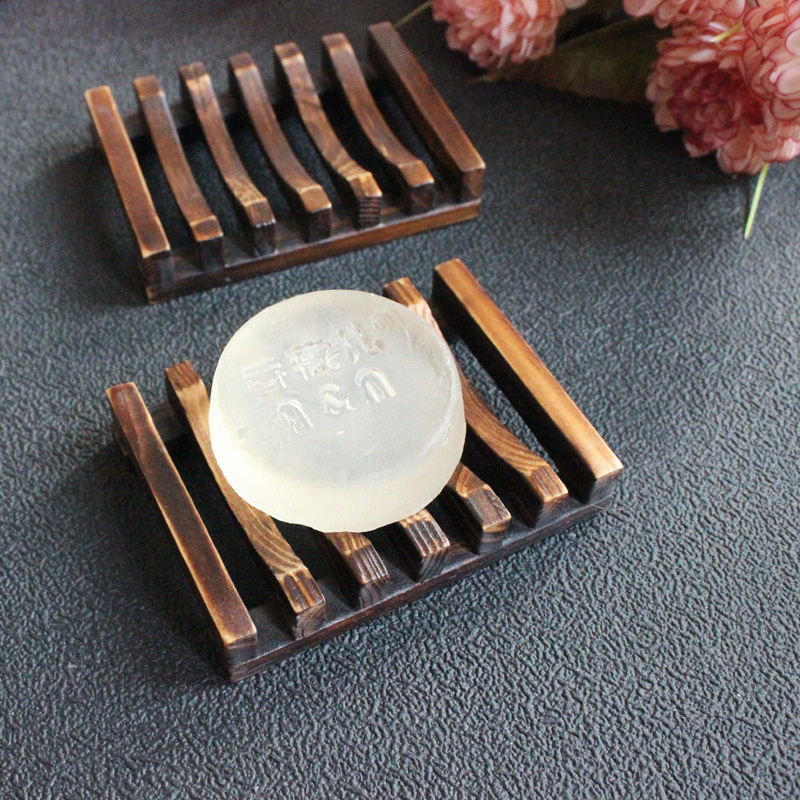New Bathroom Dish Plate Case Home Shower Bamboo Wooden Soap Travel Hiking Holder Container Soap Box Soap Holder Dish