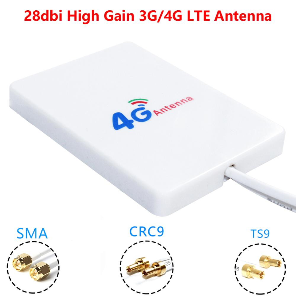 28dBi High Gain 3G 4G LTE Router Modem Aerial External Antenna Dual SMA TS9 CRC9 With 3 Meters RG174 Cable