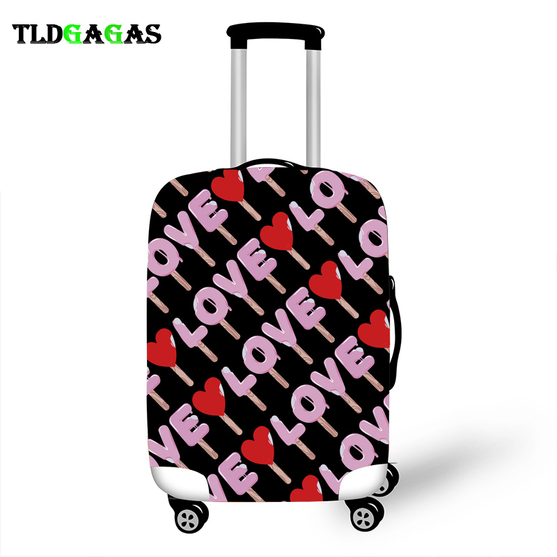 Elastic Luggage Protective Cover Case For Suitcase Protective Cover Trolley Cases Covers Xl Travel Accessories Cool LOVE Case