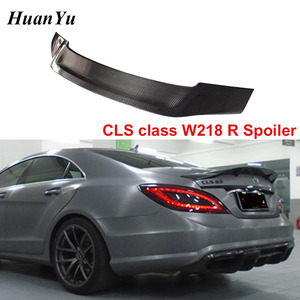 W218 R style Carbon Fiber Trunk Spoiler for Mercedes-benz CLS Class 2011-2016 Gloss Duck Rear Wings CLS500 CLS550