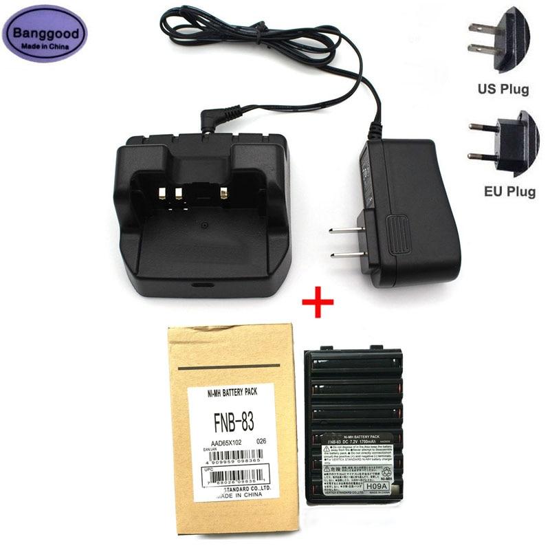 FNB-83 FNB83 7.2V 1700mAh Ni-MH Battery + CD-47 Rapid Charger CD47 for YAESU FT60R FT-270R VX-160 168 180 VX-210 VXA-220 Radio