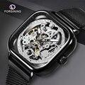 Reloj mecánico automático de marca superior FORSINING para hombre, reloj informal a prueba de agua, reloj para hombre