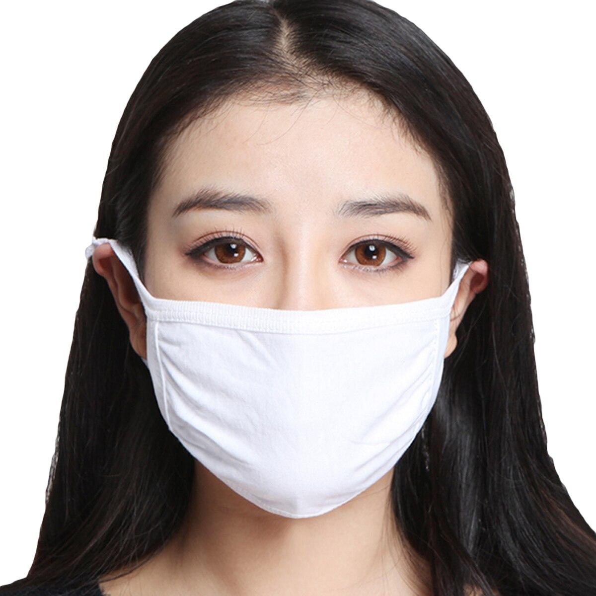 Unisex Women Men Mask Reusable Cotton Fabric Face Mask Black White Washable Handmade Cotton Mask