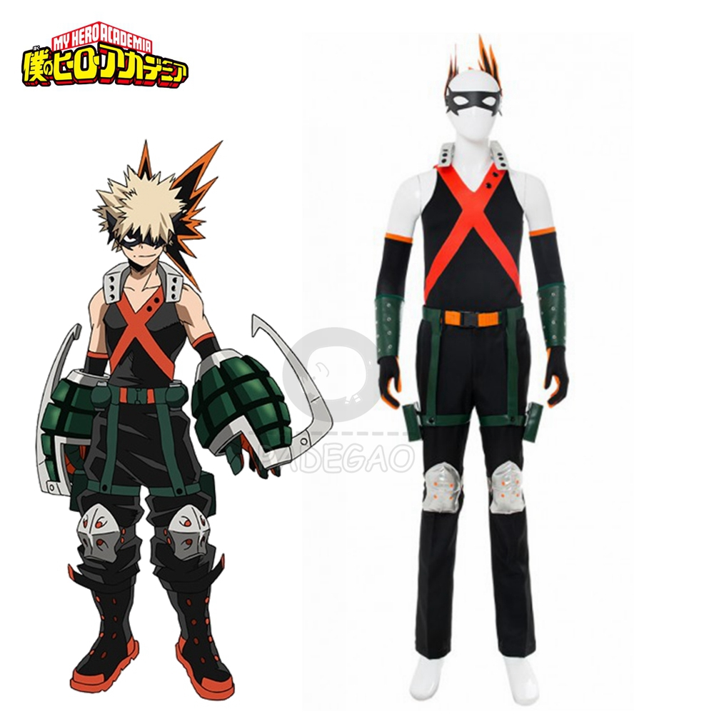 Boku No Hero Academia Costumes My Hero Academia Costume Bakugou Katsuki Cosplay Costume Outfit Full Suit Halloween Carnival