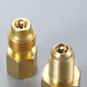 Image 5 - 2Pcs R1234yf Hose Adapter 1/2inch ACME LH Left Hand 1/4inch SAE Female FL Brass Valve Core