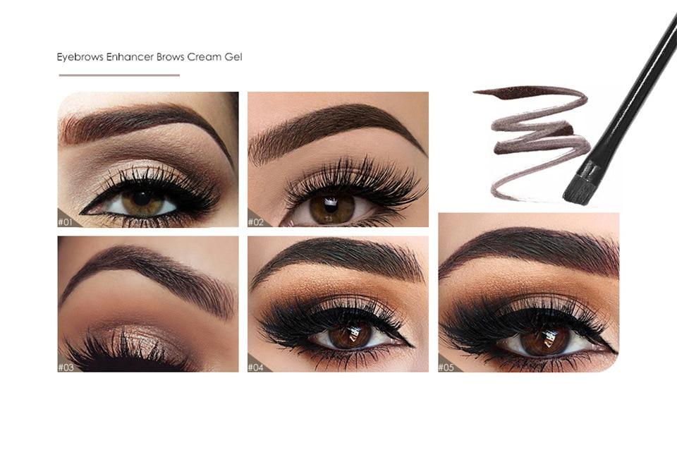 longa duração 3d natural marrom olho sobrancelha enhancer creme 16061
